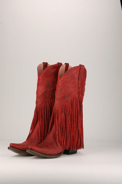 Dreamer Cowboy Boot in Red by Junk Gypsy Co.