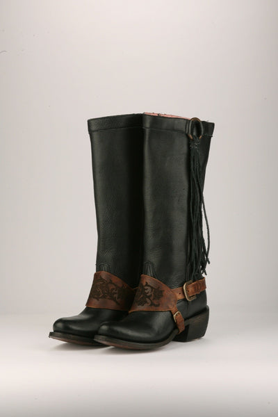 Southbound Cowboy Boot in Black by Junk Gypsy Co.