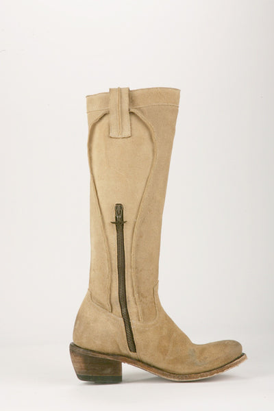 Texas Tumbleweed Cowboy Boot in Sand Suede by Junk Gypsy Co.