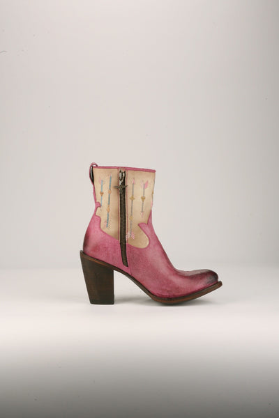 Wanderlust Cowboy Boot in Pink and Bone by Junk Gypsy Co.