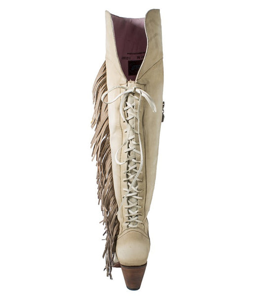 Spirit Animal Cowboy Boot in Bone by Junk Gypsy Co.