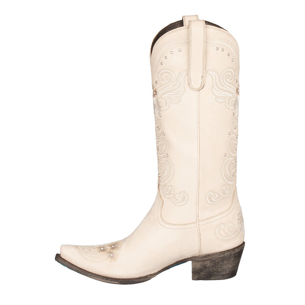 Wedding Cowboy Boot in Ivory by Lane Boots
