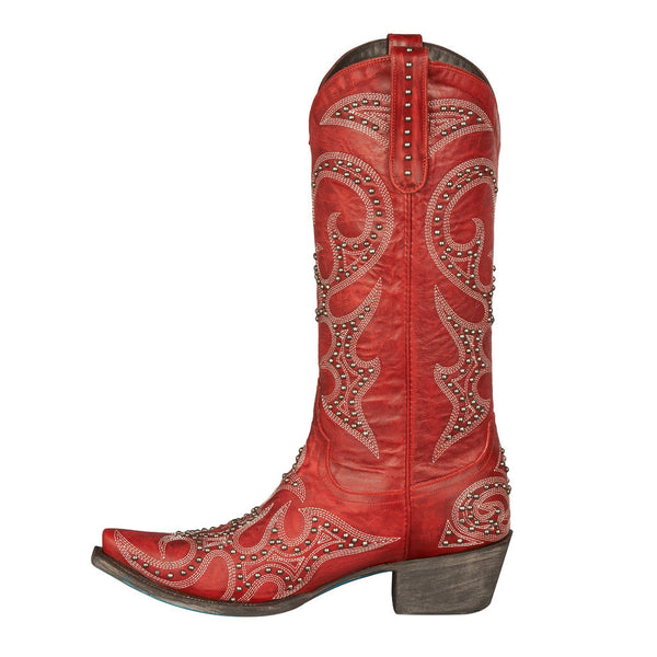 Lovesick Stud Cowboy Boot in Red by Lane Boots
