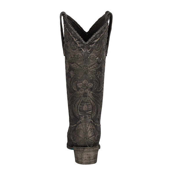 Robin Cowboy Boot in Black and Mineral Grey by Lane Boots