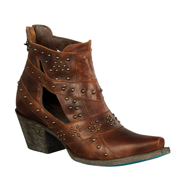 Studs & Straps Cowboy Boot in Brown by Lane Boots