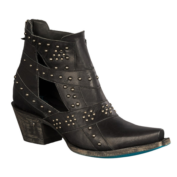 Studs & Straps Cowboy Boot in Black by Lane Boots