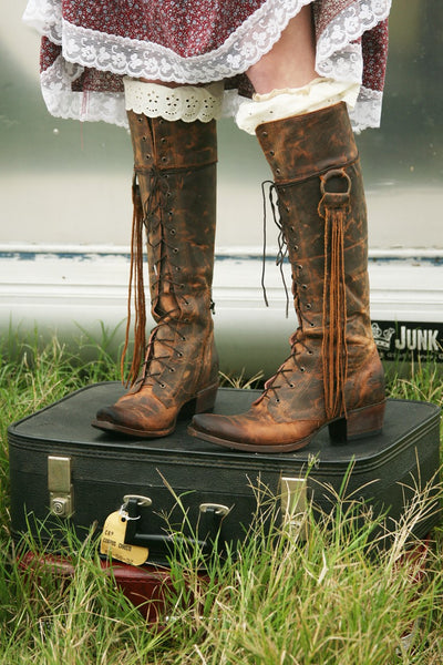 Trailblazer Cowboy Boot in Brick by Junk Gypsy Co.