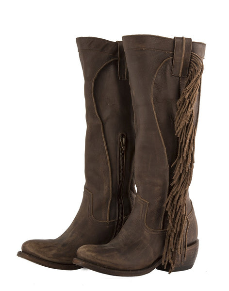Texas Tumbleweed Cowboy Boot in Distressed Chocolate by Junk Gypsy Co.