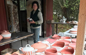 Loading the kiln at Cook on Clay