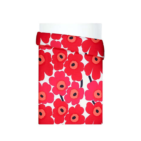 Marimekko Bedroom - Duvet Cover (King Bed) - Unikko 001 Red