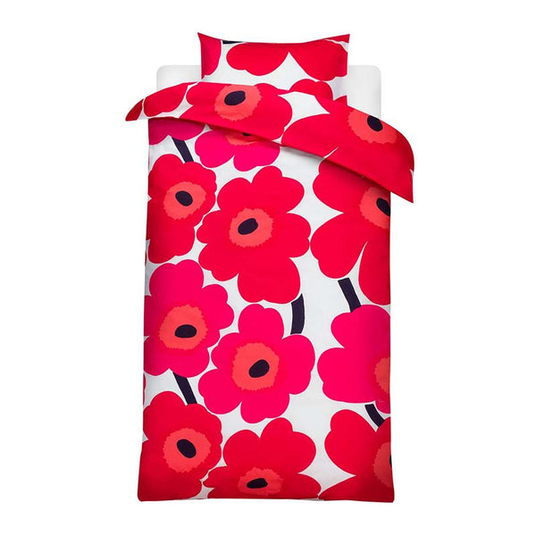 Marimekko Bedroom - Duvet Cover Set (Single Bed) - Unikko 001 Red