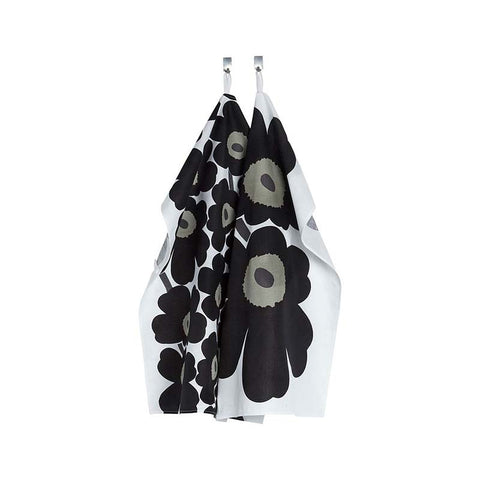 Marimekko Kitchen - Tea Towels - Unikko 030 Black (2 pieces)