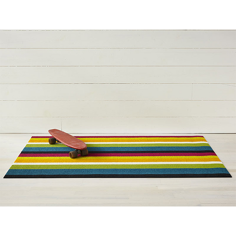 Chilewich Shag Big Mat - Bold Stripe - Multi