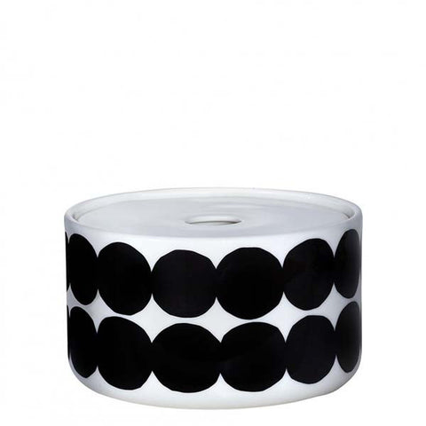 Marimekko Kitchen - Siirtolapuutarha Storage Jar 190 White/Black (450ml)