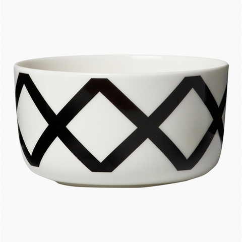Marimekko Kitchen - Bowl - Spaljé 191 White/Dark Grey (500ml)