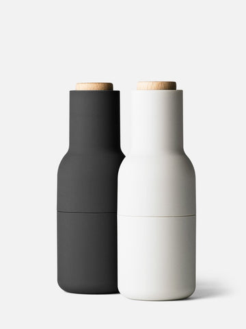 Menu Bottle Grinders - Ash/Carbon - Beech Lid