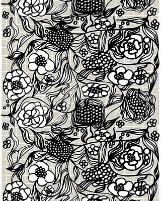 Marimekko Fabric - Coated Cotton - Floristi - 990