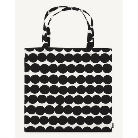 Marimekko Cotton Tote - Rasymatto 190 Black/White