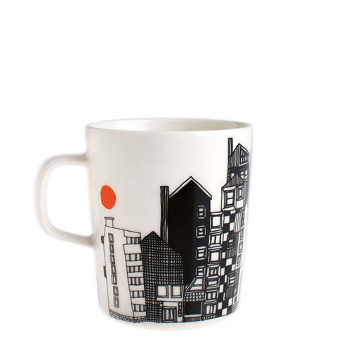Marimekko Kitchen - Mug - Siirtolapuutarha 195 Black/White/Orange