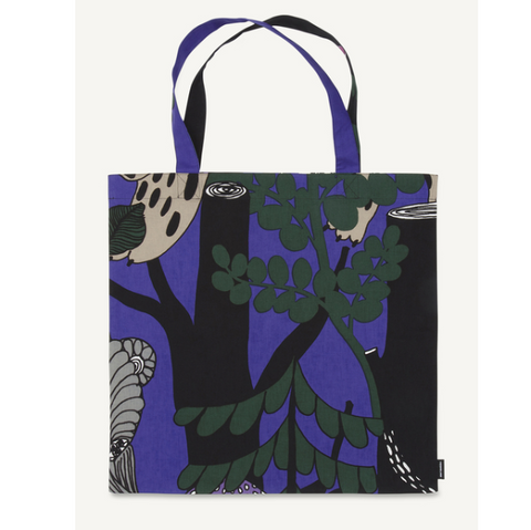 Marimekko Cotton Tote - Veljekset 490 Purple/Green/Pink