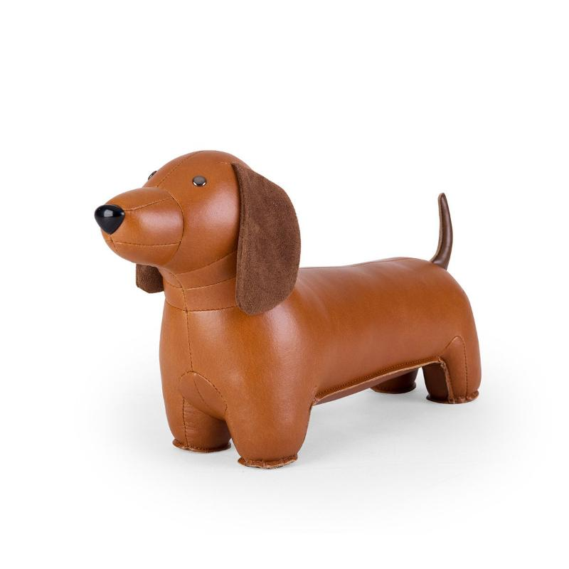 Zuny Bookend - Dachshund - Tan