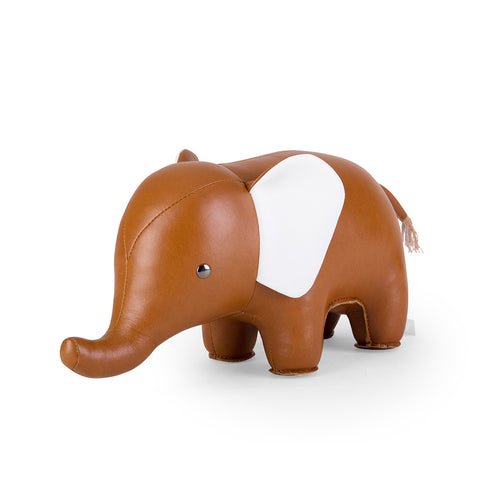 Zuny Bookend - Elephant - Tan