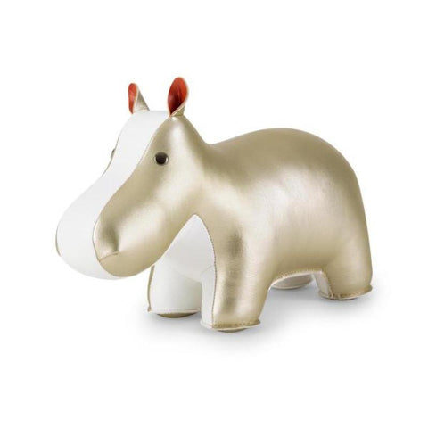 Zuny Bookend - Hippo - Gold