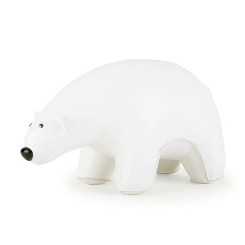Zuny Bookend - Polar Bear - White