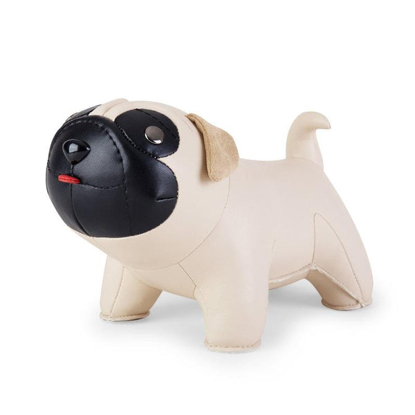 Zuny Bookend - Pug - Wheat