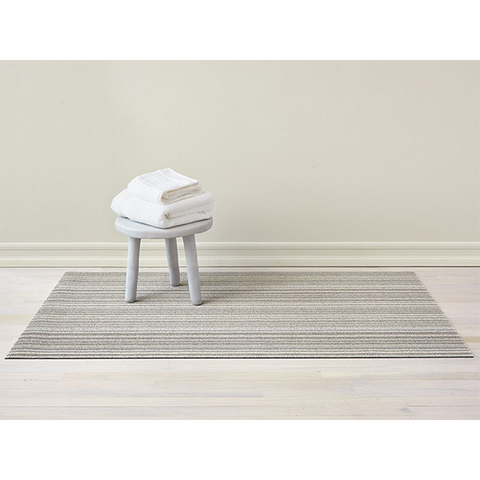 Chilewich Shag Big Mat - Skinny Stripe - Birch