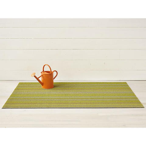 Chilewich Shag Big Mat - Skinny Stripe - Citron