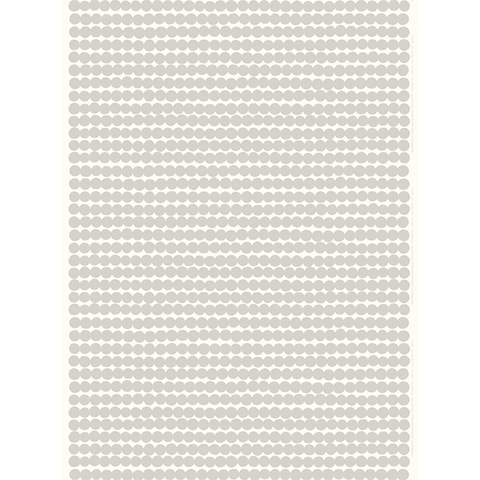 Marimekko Fabric - Coated Cotton - Räsymatto 195 Light Grey/White