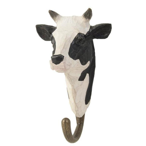Wildlife Garden - Hand Carved Hook - Cow
