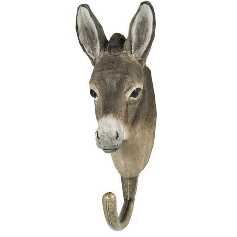 Wildlife Garden - Hand Carved Hook - Donkey