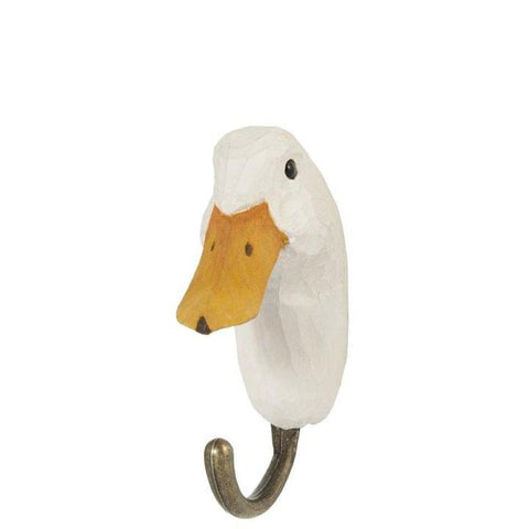 Wildlife Garden - Hand Carved Hook - Duck