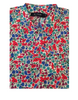 Liberty Lawn Cotton Shirt - Red/Magenta/Sea Green