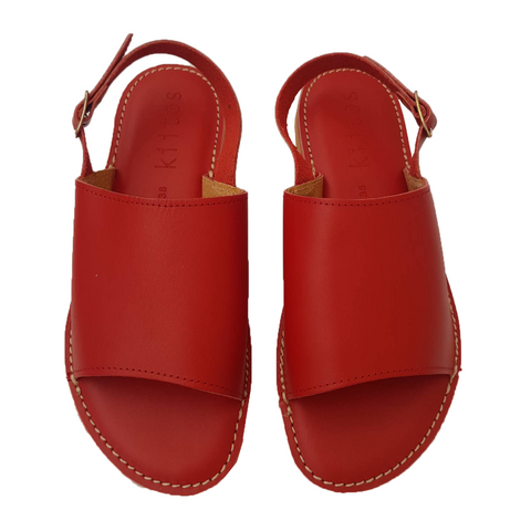 Kiitos Leather Sandals - Sophia - Red