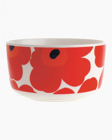 Marimekko Kitchen - Bowl - Unikko 001  White/Red (500ml)
