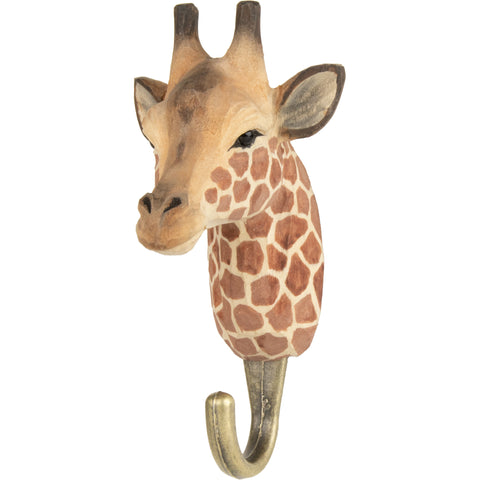 Wildlife Garden - Hand Carved Hook - Giraffe