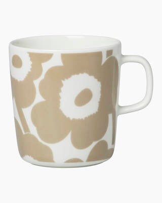 Marimekko Kitchen - Large Mug 4dl - Unikko White/Beige
