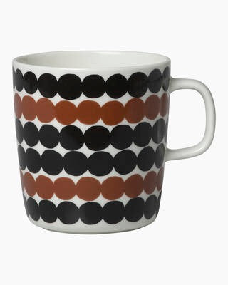 Marimekko Kitchen - Large Mug - Rasymatto Black/White/ brown