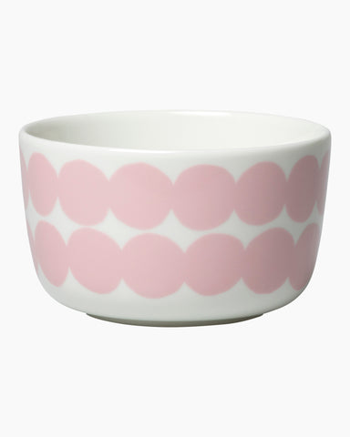 Marimekko Kitchen - Bowl - Rasymatto 103 White/Pink (250ml)