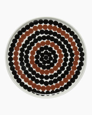 Marimekko Kitchen - Plate 20cm - Rasymatto Black/White/Brown
