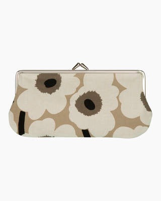 Marimekko Purse - Silmalasi Kukkaro - / Beige/Black/Ecru/ Brown