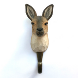 Wildlife Garden - Hand Carved Hook - Kangaroo