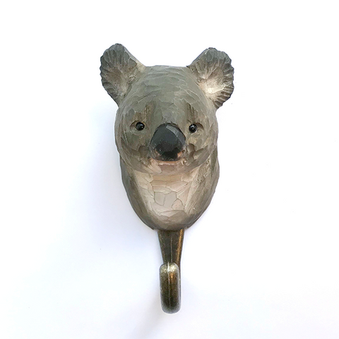 Wildlife Garden - Hand Carved Hook - Koala