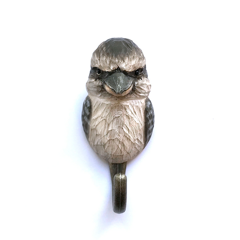 Wildlife Garden - Hand Carved Hook - Kookaburra