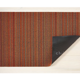 Chilewich Shag Runner Mat - Skinny Stripe - Orange
