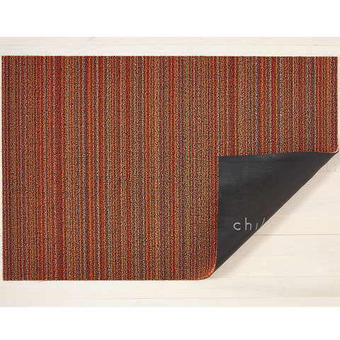 Chilewich Shag Utility Mat - Skinny Stripe - Orange