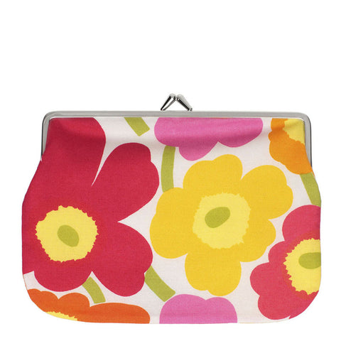 Marimekko Purse - Puolikas Kukkaro - 201 Red/Pink/Yellow